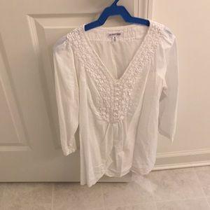White cottony top